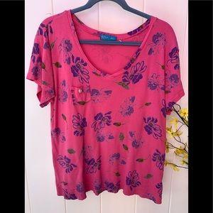 Fresh produce XL pink shirt sleeve top